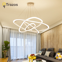 LED chandelier loft illumination nordic suspension luminaire home deco lighting fixtures living room lamps modern hanging lights