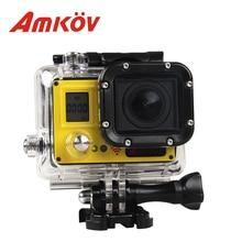 """AMKOV AMK7000S 2.0 """"LCD 4 K Wifi deporte Cámara 170 Grados de Granangular 1080 P 20MP Resistente Al Agua 40 m Deportes DV Cámara de La Acción"""
