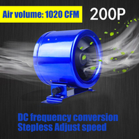 1PC 8 cun Quiet. Duct Fan Speed Controller Exhaust Blower Six Inch powerful Frequency Exhaust Fan 50W 110V/220V