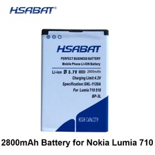 487a098fac4 HSABAT 2800mAh BP-3L battery for Nokia Lumia 710 510 603 610C 900 303 505  battery
