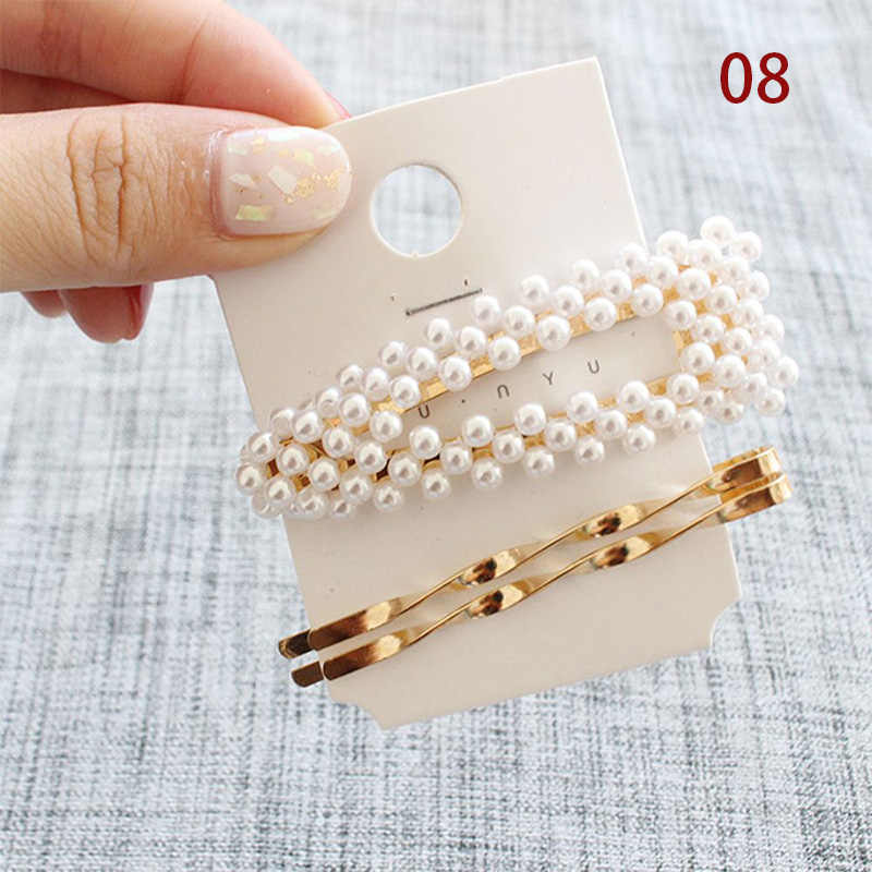 3Pcs/Set Pearl Metal Hair Clip Hairband Comb women Hair clip Headdress Accessories Beauty Styling Tools New Arrival