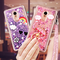 Xiaomi Redmi Note 4 Case Redmi Note 4 Pro Case Liquid Loves Quicksand Rhinestone Stand Holder