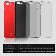 Phone Case For iPhone 8 7 6 6s Baseus Ultra Thin Slim PP Frosted Cover For iPhone 8 7 6 6s Plus Matte Coque Capinhas For iPhone8