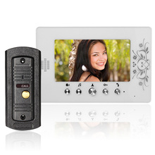 Wired Video Door Phone Intercom System with 7 inch Color Monitor 700TVL Aluminum alloy Camera for Home Security