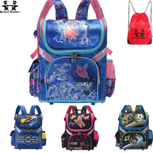 wenjie brother new Kids cat butterfly School bag Backpack EVA Folded Orthopedic Children boy and girls backpack Mochila Infantil new kids butterfly schoolbag backpack eva folded orthopedic children school bags for boys and girls mochila infantil