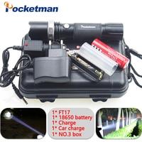 Lm flashligh zaklamp linterna led wodoodporna zoomable cree xm-l t6 led latarka 5 tryby 18650 akumulator lub aaa