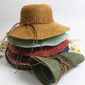 2016 Verano nuevo estilo cap sunbonet todo-fósforo estilo de la aguja de gancho plegable del sol-shading strawhat femenino playa sombrero envío libre