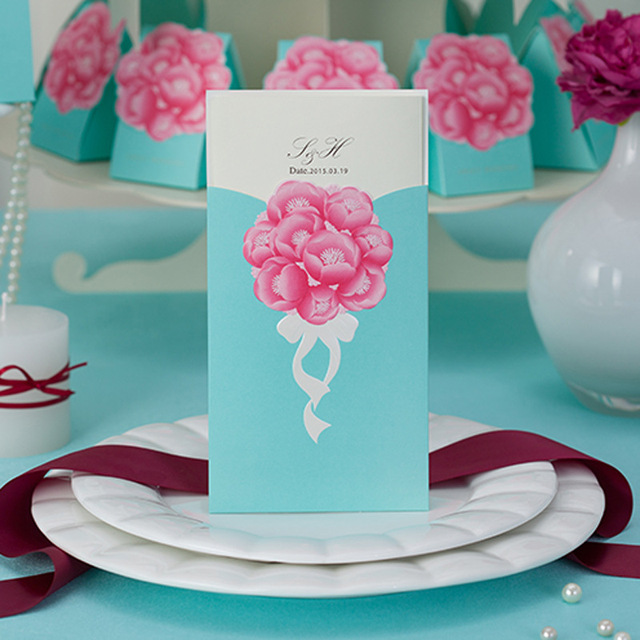 Muslim Wedding Invitation Cards With Fast Shipping Free Design Flowers Cw011