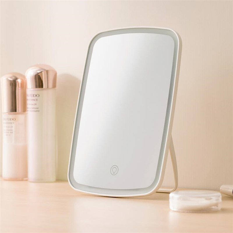 Image 2 - Xiaomi Mijia LED makeup mirror Touch sensitive control LED natural light fill adjustable angle Brightness lights long battery 3-in Smart Remote Control from Consumer Electronics