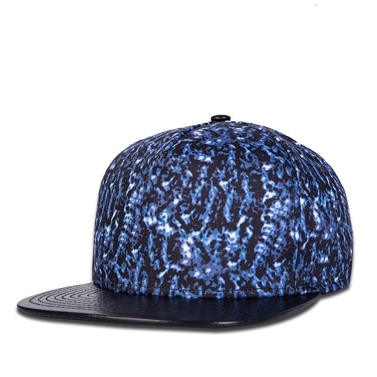 Xuanxuan World Store Male Hip-hop Punk Rock Dancing Headwear Men Snapback Hat Women Fashion 3D Print PU Peak Baseball Cap
