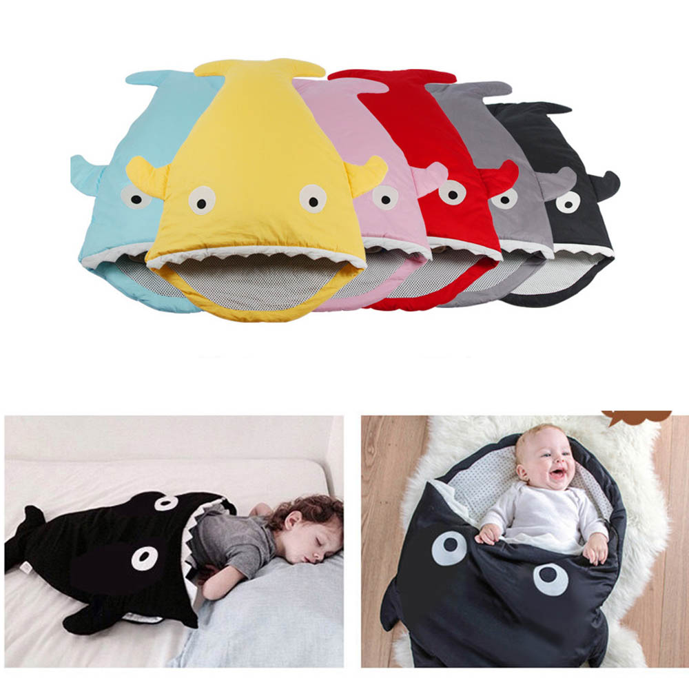 2018 New Shark newborn sleeping bag sleeping bag winter stroller bed swaddle blanket wrap bedding cute baby sleeping bag