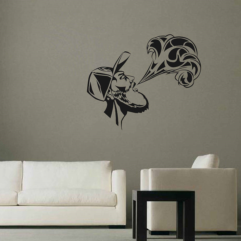 YOYOYU Wall Decal Man Smog Pattern Creative Design Wall Stickers Fashion Removable Vape Home Decor Interior Accessories DIYSY772 interior design
