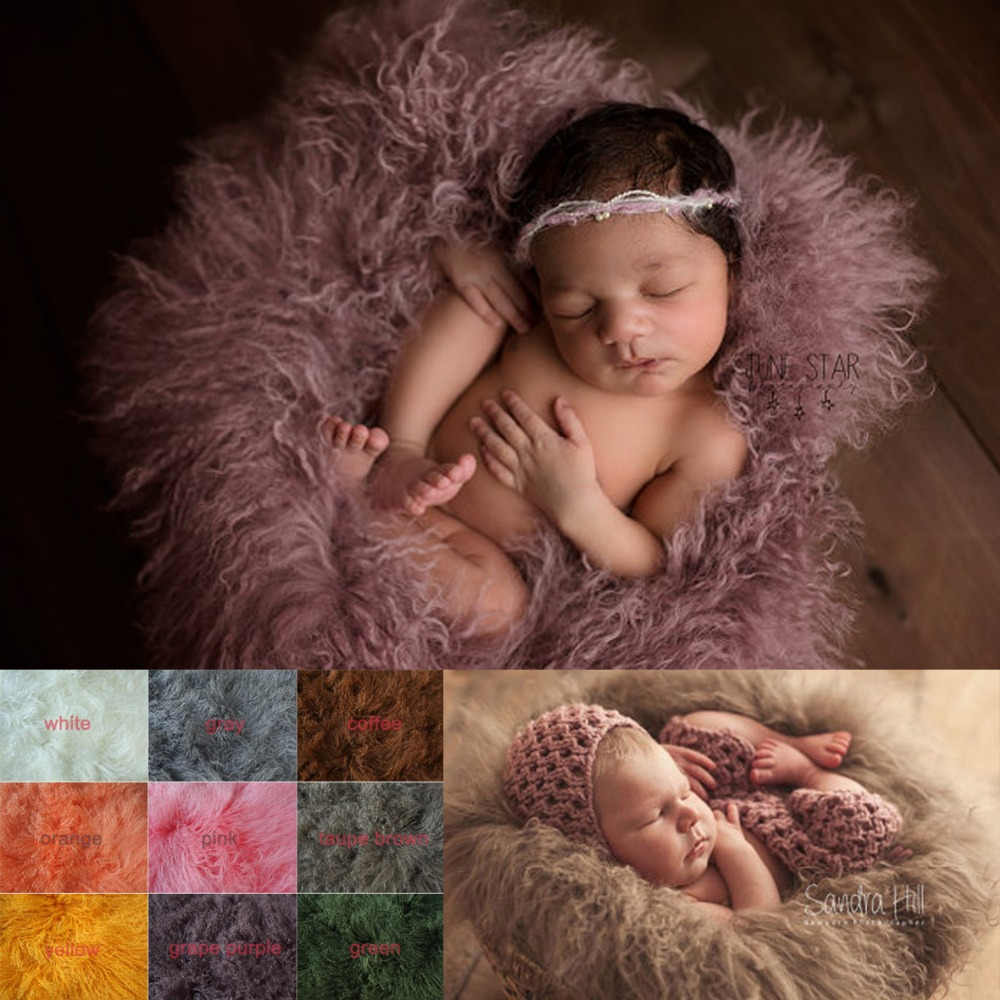 24in square Pure wool fur blanket  Newborn props infant basket filler stuffer photo baby Photography backdrops background fleece baby newborn faux fur photography photo props blanket basket stuffer rug beanbag background backdrop wine red