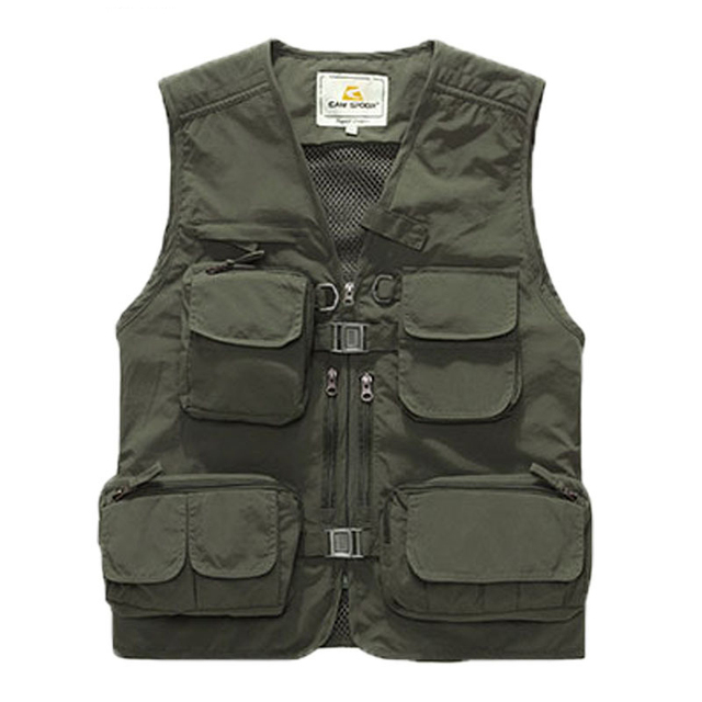 Hot! 2016 New Arrival summer  casual clothing,advertising photographer vest, male tooling Multi Pocket vest  108