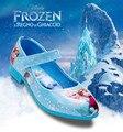 Zapatos de cuero Elsa muchacha de los niños zapatos de fiesta kids zapatos infantil calzado nina congelados de festa sapato infantil meninas