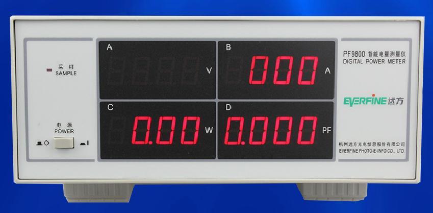 Fast arrival Everfine PF9800 Benchtop Digital power meter wattmeter intelligence power analyzer for V/A/W/PF