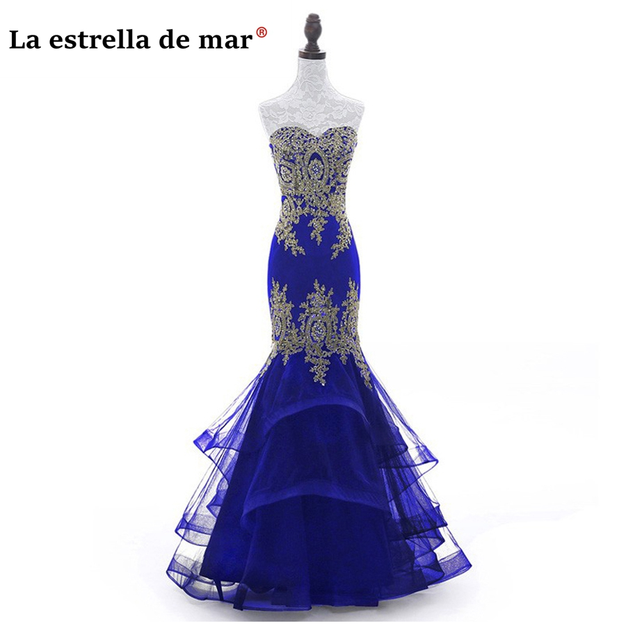 vestidos de festa vestido longo para casamento 2019 stock 7 color gold lace crystal sexy mermaid   bridesmaid     dresses   plus size