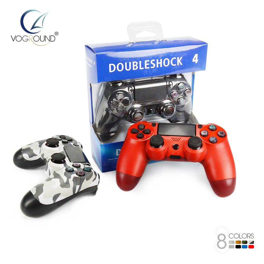 Mise à niveau Bluetooth Sans Fil Gamepad Contrôleur Pour PS4 Pro Mince Vibration Joystick Pour PlayStation 4 Avec La Lumière Bar