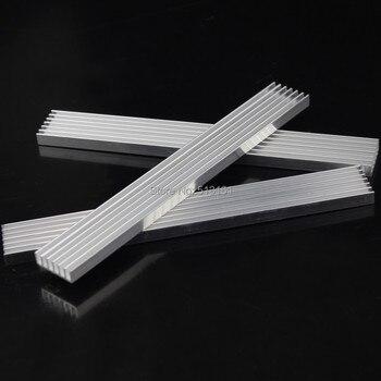 цена 5pcs/lot 150x20x5mm Aluminum Heatsink For LED IC Chip Heat Sink 150mm онлайн в 2017 году