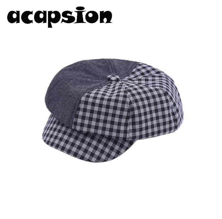 Men's Hats Special Section Acapsion French Artist Beret Hat For Charm Women Plaid Cottonberets Painter Octagonal Hats Caps Gorras Mujer Cappelli Donna Rich In Poetic And Pictorial Splendor Men's Newsboy Caps