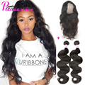 360 Lace Frontal With Bundle 7A Peruvian Virgin Hair With Closure Cheap 360 Frontal With Bundles Peruvian Body Wave With Closure