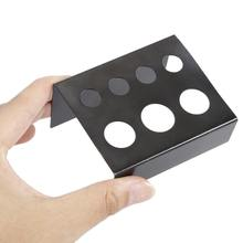 7 Holes Shelf Black Metal Tattoo Ink Cup Holder Stand Tattoo Pigments Cup Pen Holder For Women Permanent Makeup Accessories