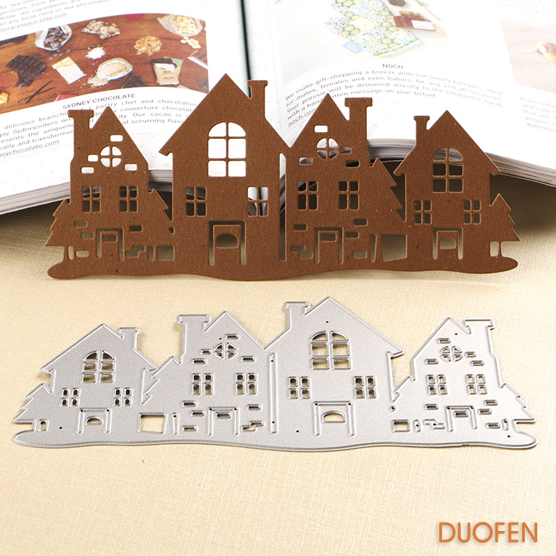 060227 1pc country house Stencils metal cutting dies for DIY papercraft project embossing Scrapbooking Scrapbook Paper Album