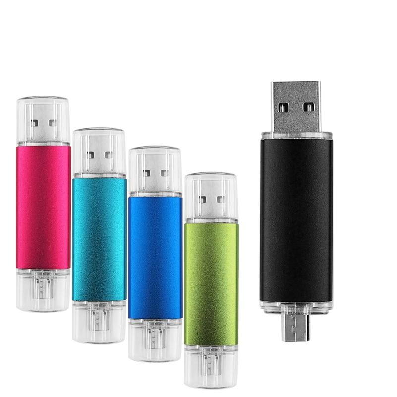 Smart Phone USB Flash Drive Metal Pen Drive 64gb Pendrive 8gb 16gb 32gb 4gb OTG External Storage Usb Memory Stick Flash Drive-in USB Flash Drives from Computer & Office