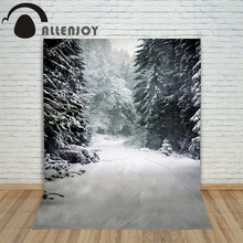 Christmas children's photo background Snow forest winter blur backdrop photography vinyl studio camera lovely