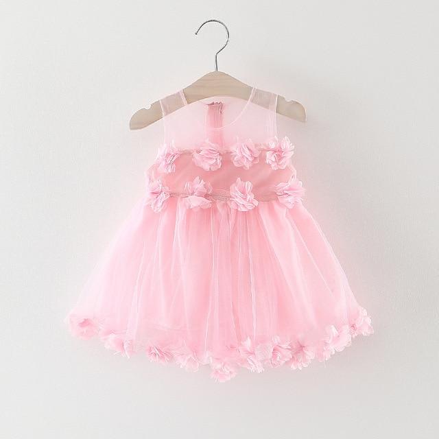 New Petal Muster Ersten Geburtstag Baby Kleidung Kleid Für Partei ...