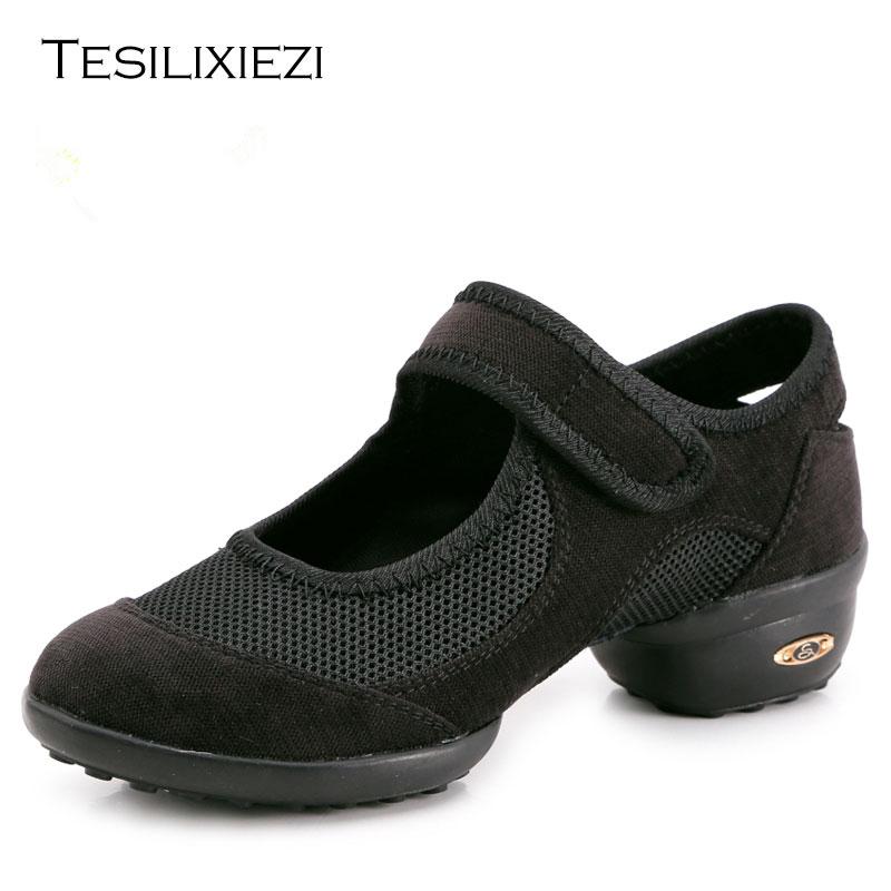 Más tamaño deportes suela Breath latino zapatos de baile zapatillas para mujer zapatos de baile de Jazz moderno zapatos de baile latino mujer