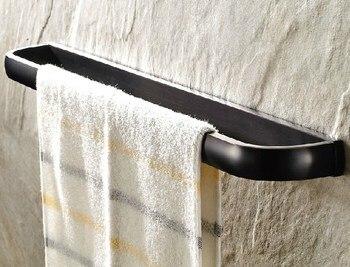цена на Wall Mounted Black Oil Rubbed Antique Brass Square Style Bathroom Single Towel Bar Towel Rail Holder Bathroom Accessory mba192