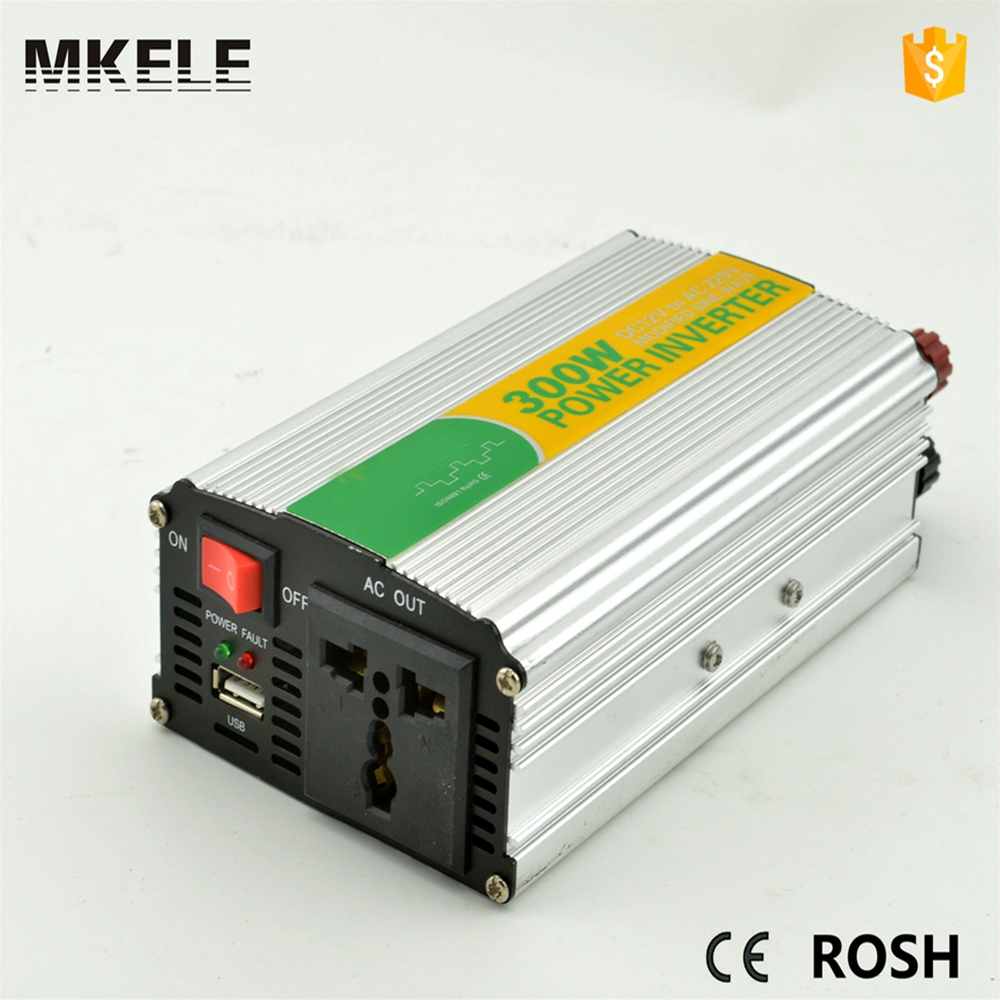 цена на MKM300-241G modified sine wave best power inverter 24vdc 120vac single output mini electronics inverter 300watt made in china