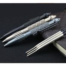 Практичные тактические ручки EDC алюминиевый стеклянный выключатель Самозащита тактическая ручка выживания многофункциональный походный инструмент для письма