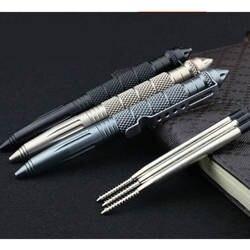 Практичные тактические ручки EDC алюминиевый стеклянный выключатель Самозащита Тактический ручка выживания мульти-функция кемпинг