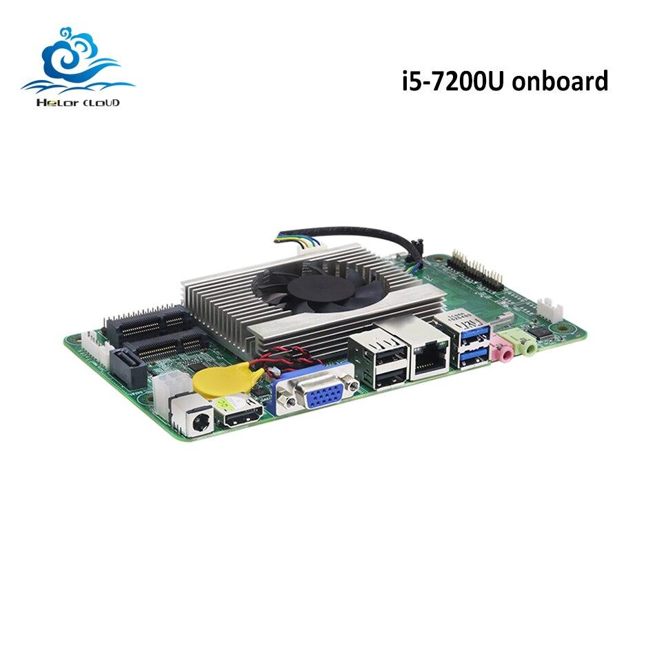 Carte mère HLY Mini DDR4 i5 7200U Mini ITX carte mère HDMI VGA USB2.0 USB3.0 mSATA SATA prise Mini PCI-E nouvelle carte mère