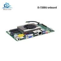 HLY Motherboard Mini DDR3 i5 7200U Mini ITX Mainboard HDMI VGA USB2.0 USB3.0 mSATA SATA socket Mini PCI E Brand NEW board