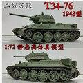 Новое 1/72 масштаб танк второй мировой войны красная армия т - 76 основной боевой танк модель игрушки для коллекции / подарок / украшение