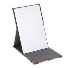 Портативное косметическое зеркало для путешествий, складное карманное прямоугольное зеркало для макияжа, складное компактное карманное зеркало с цветами espelho