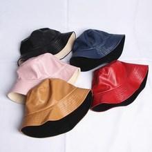 leatehr, одноцветная, теплая, с двух сторон, Панама, шляпа рыбака, шляпа от солнца, шапки для мужчин и женщин, 480