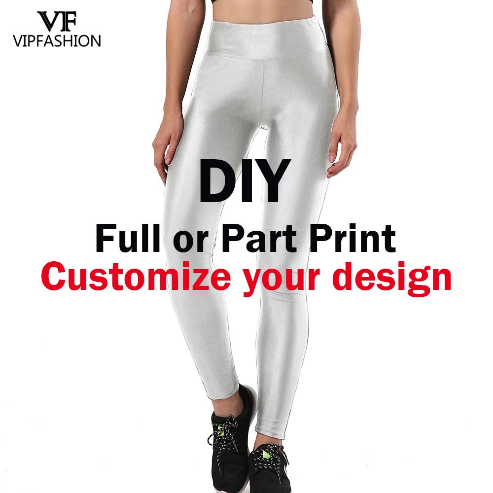 VIP FASHION Custom Capri Leggings Pants Customize Push Up Elastic Fitness Legins For Woman Design Trousers Drop Shipping