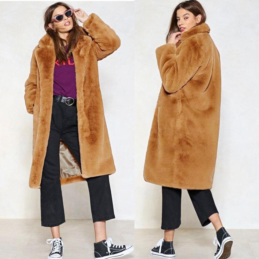 Fausse Fluffy Chaud La Dames Élégante Photo De Vêtements Épaissir Fourrure  Manteau Same En D hiver 2018 Taille Manteaux Femme ... d921f9e42c65