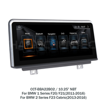 10.25″ Android Car GPS multimedia for BMW 1 Series F20/F21(2011-2016) 2 Series F23 Cabrio(2013-2016) NBT System touch scree LHD2