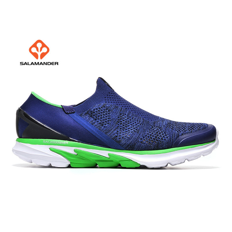 SALAMAN Mens Summer Outdoor Running Sneakers Shoes For Men Sports Flyknitlys Gym Trail Running Jogging Shoes Sneaker Man