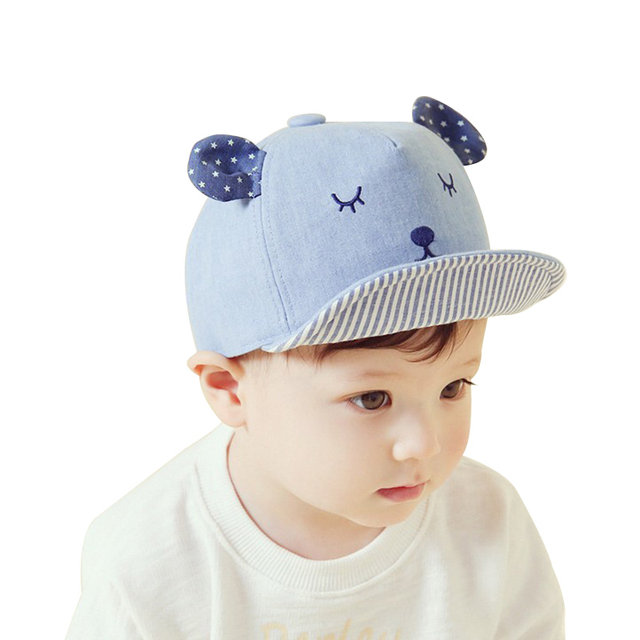 c414c71b686 ... Cute Embroidery Baby Baseball Hat Boy Girls Cotton Baby Hat Ears With  Star Baby Girl Cap ...