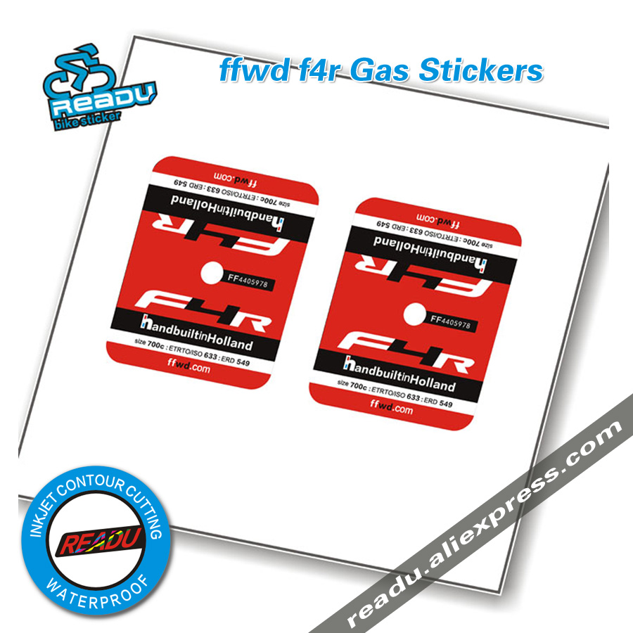 Ffwd f4r road bicycle Gas Stickers Ffwd f4r bike Gas decals f4r Gas stickers A pair of prices