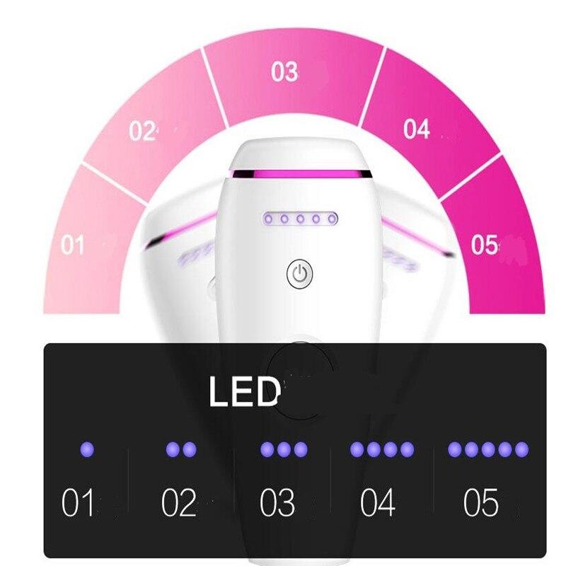 Электрический Перманентный лазерный эпилятор для волос мини IPL Машинка для удаления 300000 вспышек домашний депилятор для волос Бритва стрижка - 4