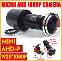 1080P Door Eye Hole AHD Mini Peephole Fisheye Camera SONY IMX323 2MP Sensor StarLight 0 001Lux