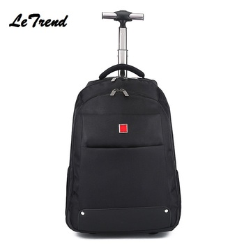 New Business Rolling Luggage Computer 18/20 Inch Backpack Shoulder Travel Bag Casters Trolley Carry On Wheels School Bag