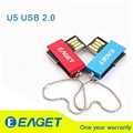 EAGET U50 USB 2.0 Flash Drive 32GB Waterproof Metal Memory Flash Stick pen drive couple rotation Pendrive pendrives Gift Blue